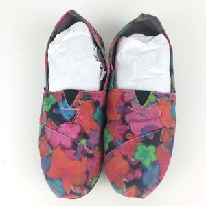 Toms Women's 7 Shoes Bright Watercolor Slip On